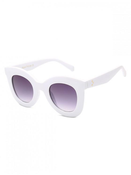 shop Wide Rim Anti UV Sunglasses - MILK WHITE REGULAR
