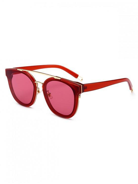 latest UV Protection Bar Sunglasses - CHESTNUT RED REGULAR