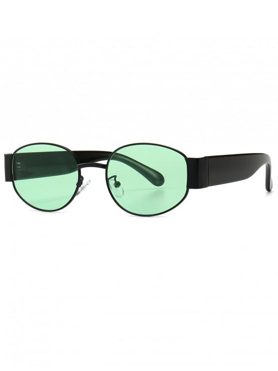 fancy Punk Oval Shape Design Sunglasses - AQUAMARINE