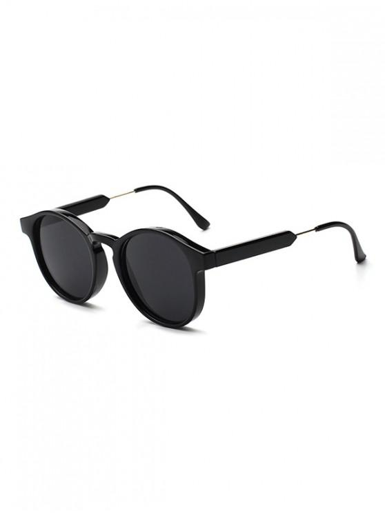 unique Round Shape Decoration Sunglasses - BLACK