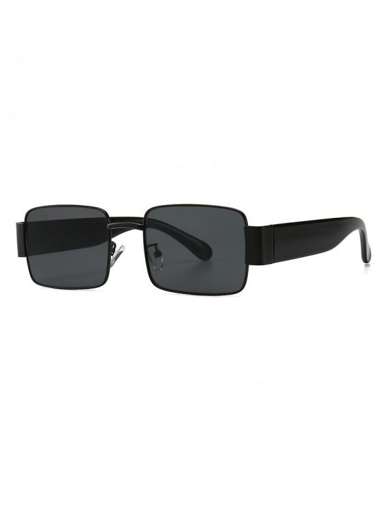 affordable Punk Style Square Design Sunglasses - JET BLACK