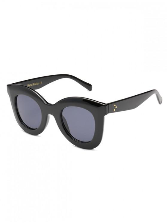 buy Wide Rim Anti UV Sunglasses - BLACK REGULAR