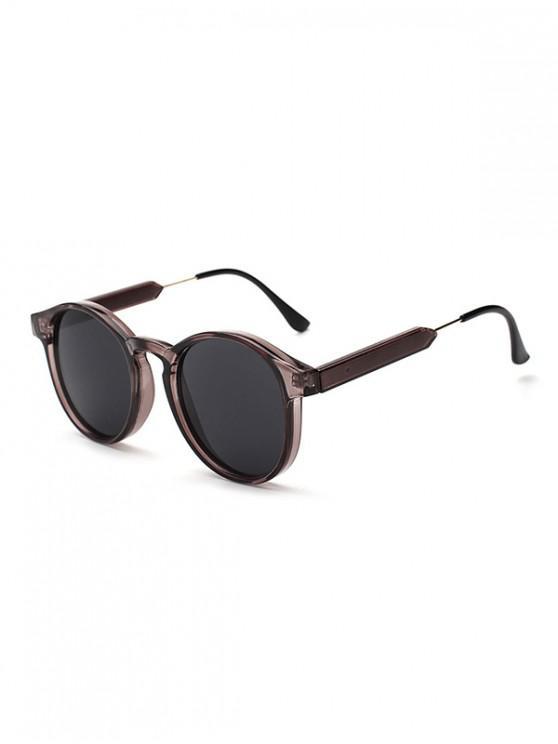 women's Round Shape Decoration Sunglasses - SMOKEY GRAY