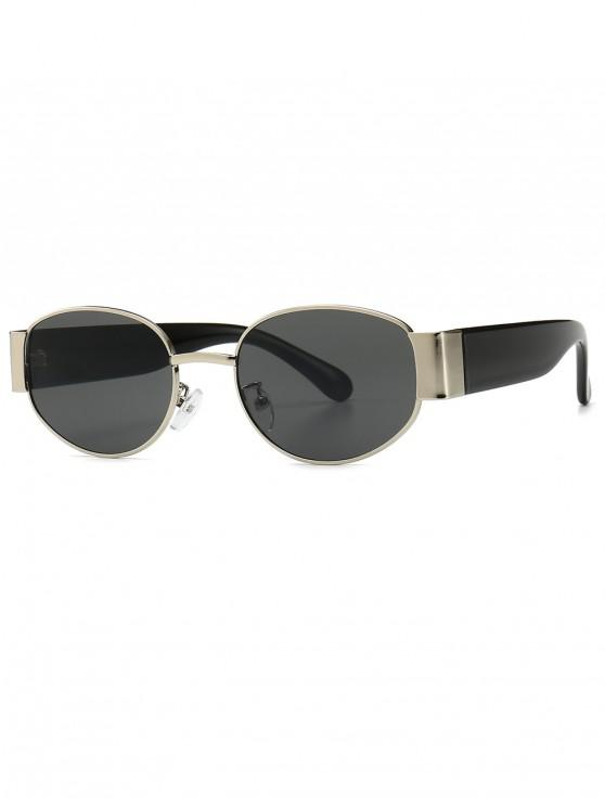 lady Punk Oval Shape Design Sunglasses - GRAY