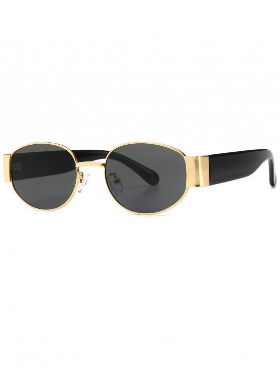 sale Punk Oval Shape Design Sunglasses - BLACK