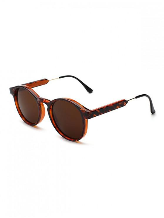 buy Round Shape Decoration Sunglasses - BROWN