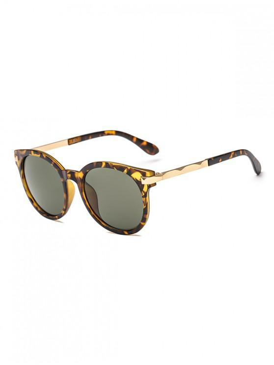 shops Anti UV Round Sunglasses - LEOPARD REGULAR