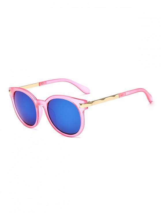 trendy Anti UV Round Sunglasses - PIG PINK REGULAR