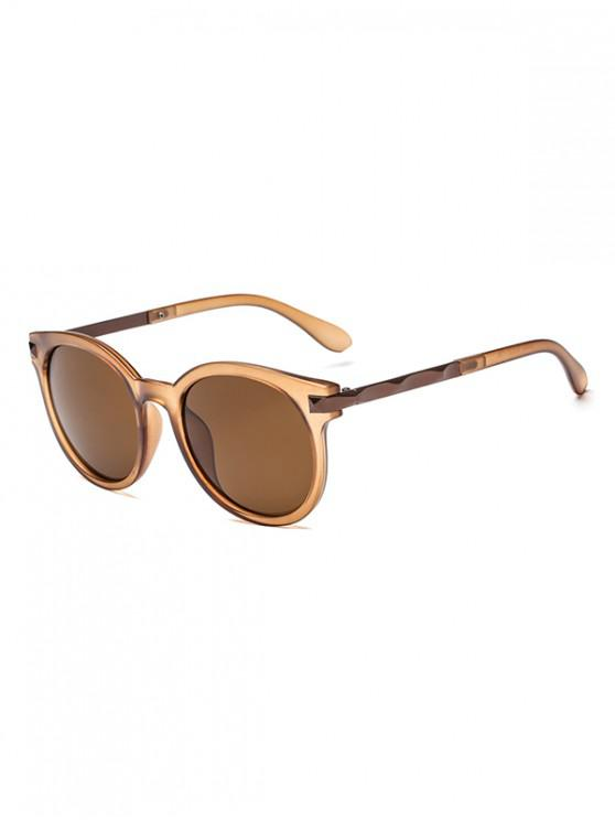 fancy Anti UV Round Sunglasses - TAN REGULAR