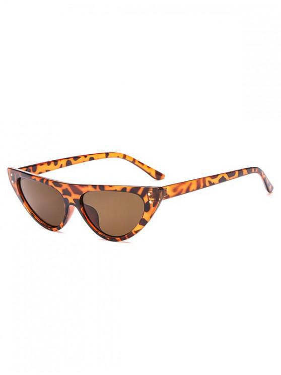 buy Triangle Catty Eye Sunglasses - LEOPARD REGULAR