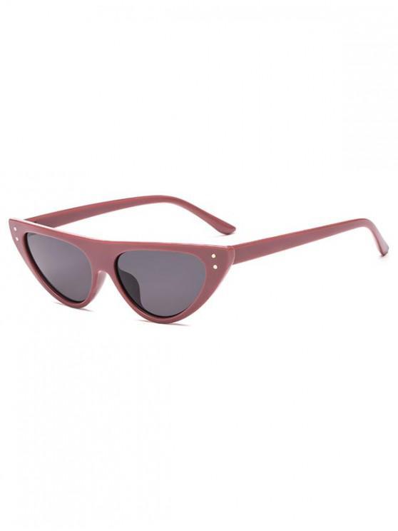lady Triangle Catty Eye Sunglasses - CHESTNUT RED REGULAR
