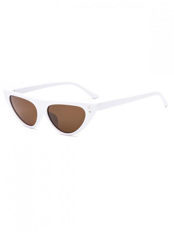 hot Triangle Catty Eye Sunglasses - WHITE REGULAR