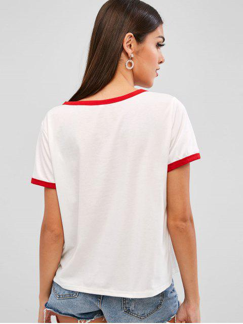 Camiseta para mujer de tenis - Blanco L Mobile