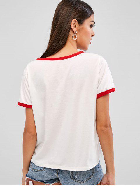 Camiseta para mujer de tenis - Blanco M Mobile