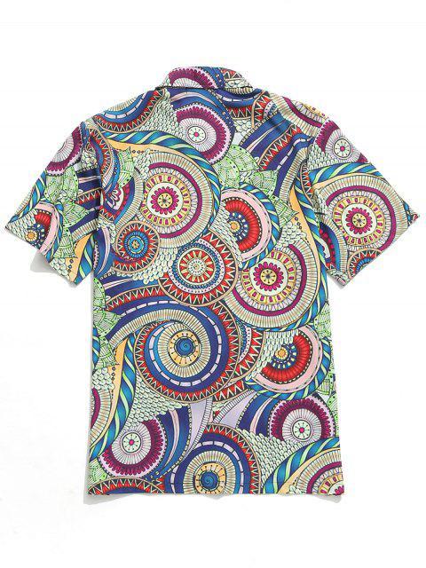 Buntes Ausführliches Muster-Entwurf -Beiläufiges Hemd - Multi 2XL Mobile
