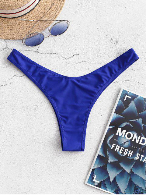 women ZAFUL Cheeky High Leg Bikini Bottoms - BLUEBERRY BLUE S Mobile