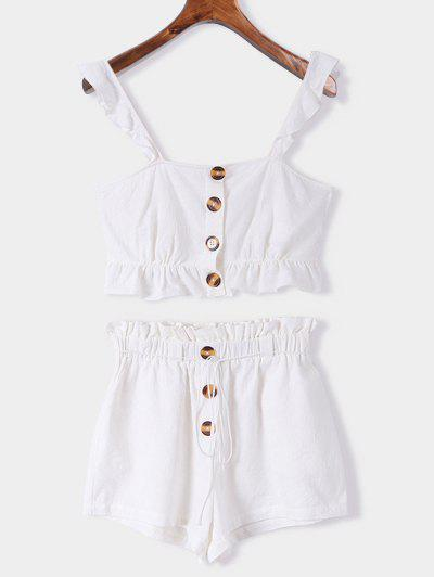 55ce04effc Ruffle Two Piece Set - White S ...