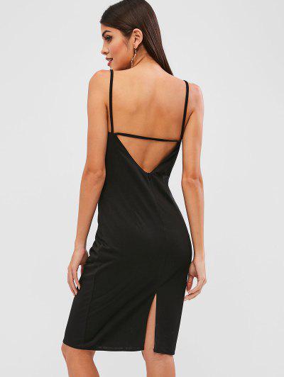 Slit Open Back Cami Dress