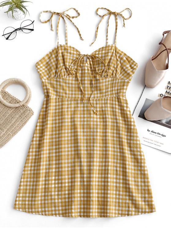 ZAFUL Mini robe à épaule - Verge d'Or L
