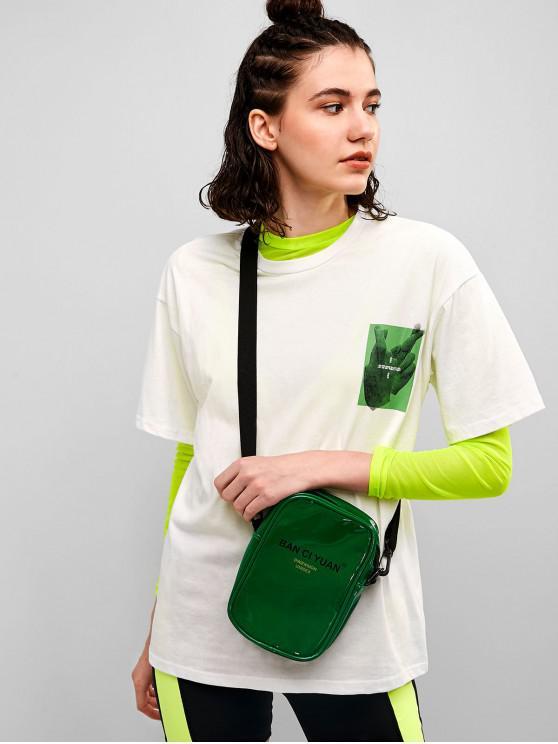 Camiseta Gráfica Casual Boyfriend Túnica Camiseta - Blanco XL