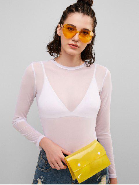 ZAFUL Top de malla transparente - Blanco S Mobile