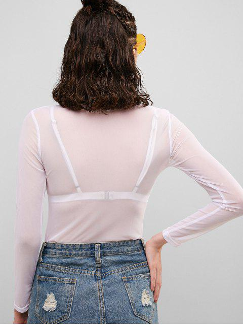 ZAFUL Top de malla transparente - Blanco M Mobile