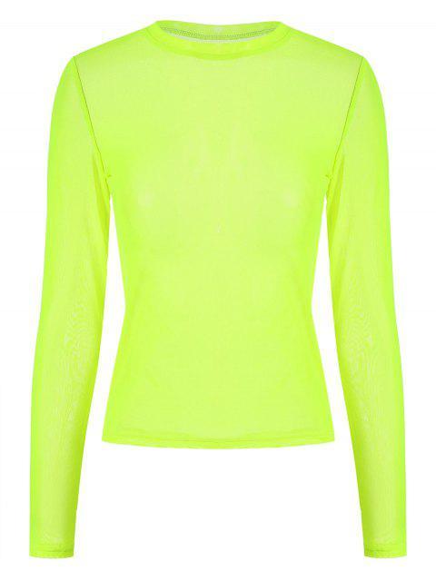 ZAFUL Top de malla transparente - Verde Amarillo S Mobile