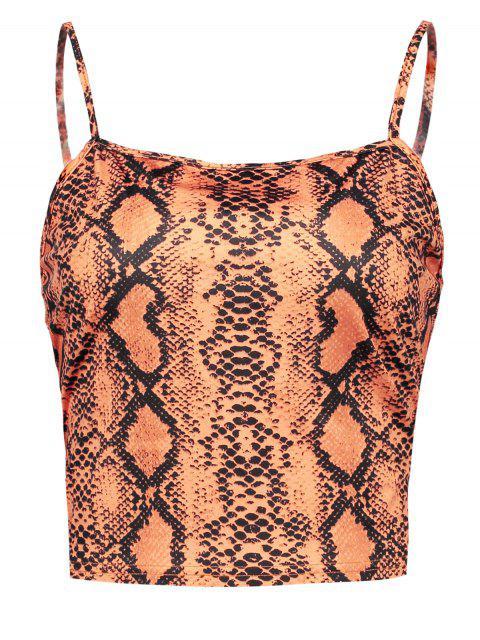 Camisola de piel de serpiente ZAFUL - Naranja M Mobile