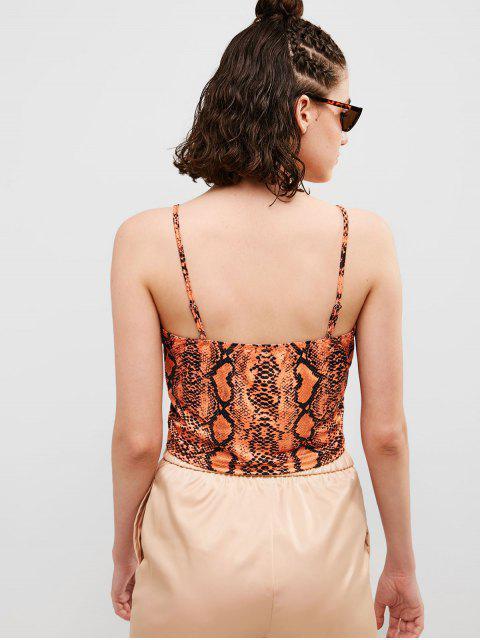 Camisola de piel de serpiente ZAFUL - Naranja L Mobile