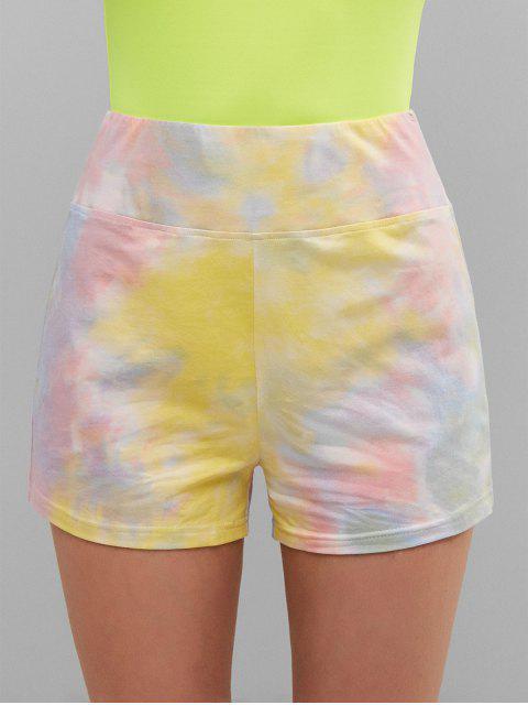 ZAFUL Cintura alta Tie Dye Shorts - Multicolor S Mobile