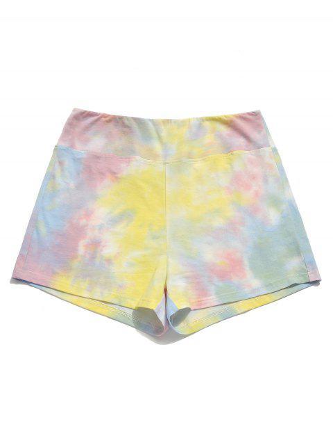 ZAFUL Cintura alta Tie Dye Shorts - Multicolor M Mobile