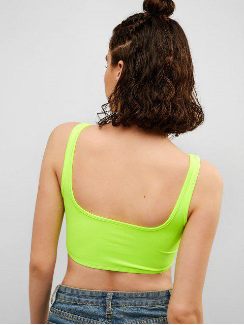Camiseta sin mangas de neón con cuello en U y gimnasio - Verde de Pistacho S Mobile