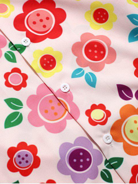 Camisa con estampado de flores y botones - Multicolor XL Mobile