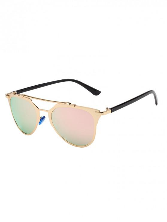 ladies Chic Metal Frame Decoration Sunglasses - PINK
