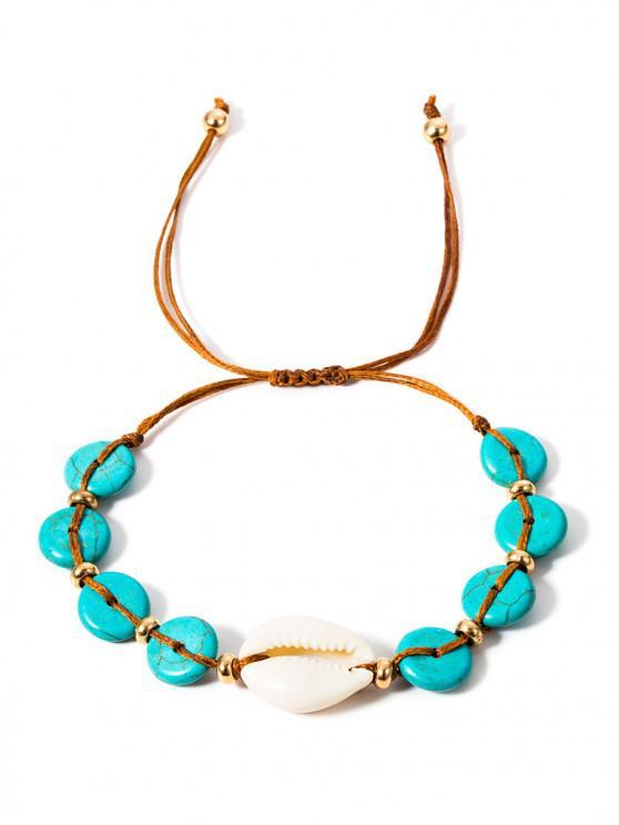 new Shell Turquoise Rope Bracelet - MEDIUM TURQUOISE
