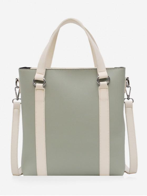 outfit Simple Contrast Color Handbag - DARK SEA GREEN