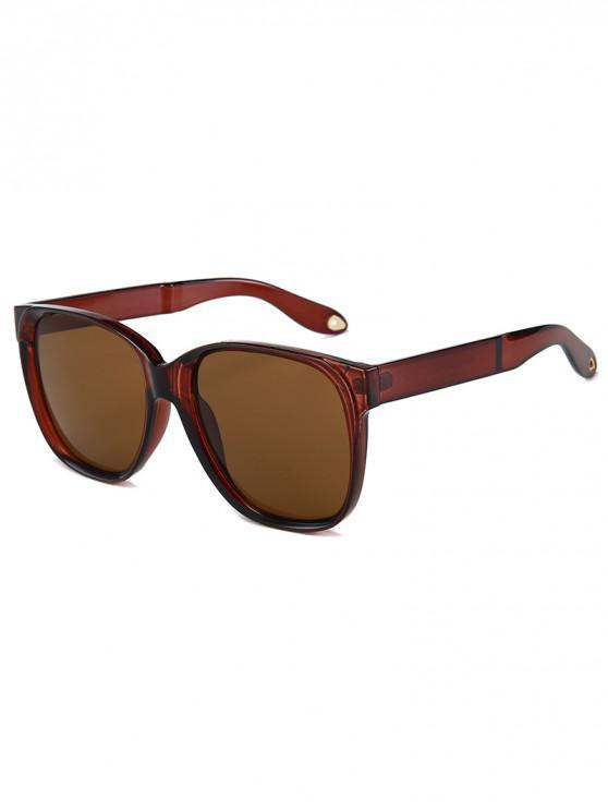 latest Outdoor Anti UV Square Sunglasses - LIGHT BROWN REGULAR