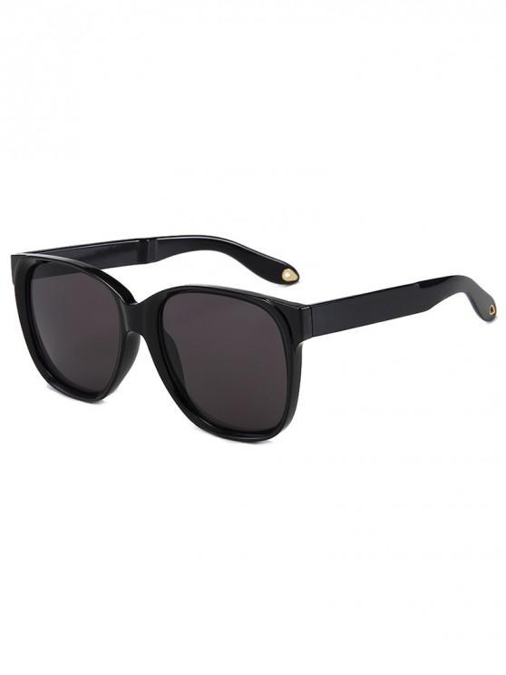 outfits Outdoor Anti UV Square Sunglasses - BLACK REGULAR