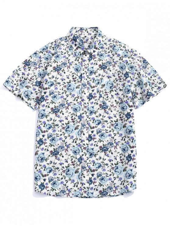 Blumen- Alloverdruck- Shirt - Multi-B M