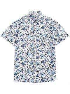 Chemise Boutonnée Fleur Imprimée En Alliage - Multi-b 2xl