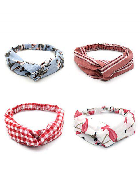 buy 4 Piece Printed Stretchy Headband Set - MULTI-B  Mobile