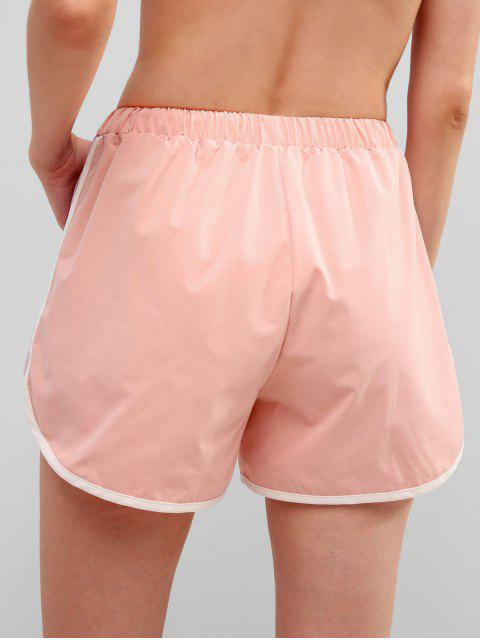 ZAFUL Color Block Pocket Sport Shorts - Rosado L Mobile