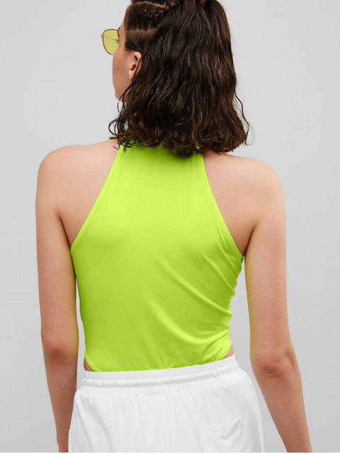 Body Cuello Alto Tanga De Corte Alto - Verde de Pistacho L Mobile