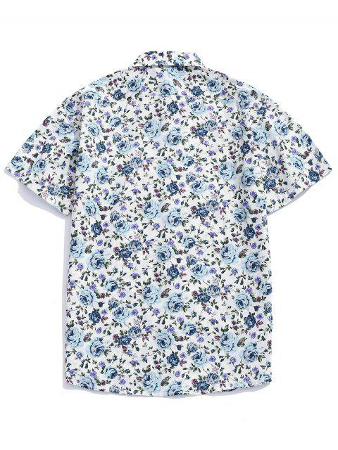 Camisa con botones estampados en toda la prenda de flores. - Multicolor-B M Mobile