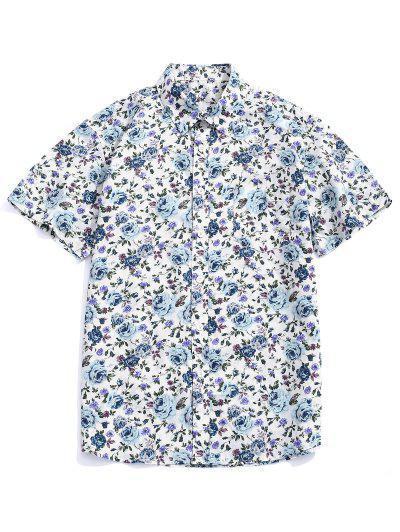 fa6d2f8278b7 Camisa Con Botones Estampados En Toda La Prenda De Flores.