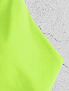 4813300d6e 25% OFF] [HOT] 2019 ZAFUL Tie Bralette Bikini Set In GREEN YELLOW ...