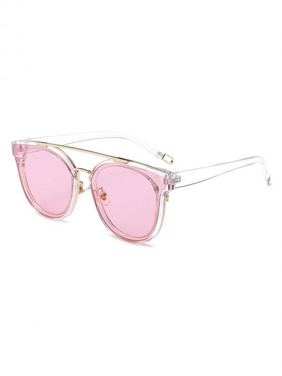 women UV Protection Bar Sunglasses - PIG PINK REGULAR