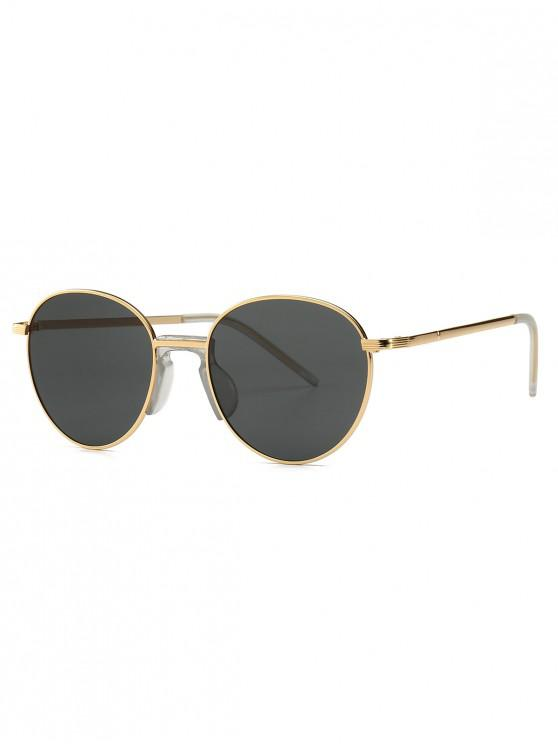 shop Vintage Metal Round Sunglasses - BLACK