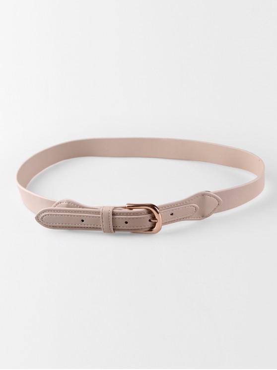 best Simple Decoration Buckle Thin Belt - KHAKI