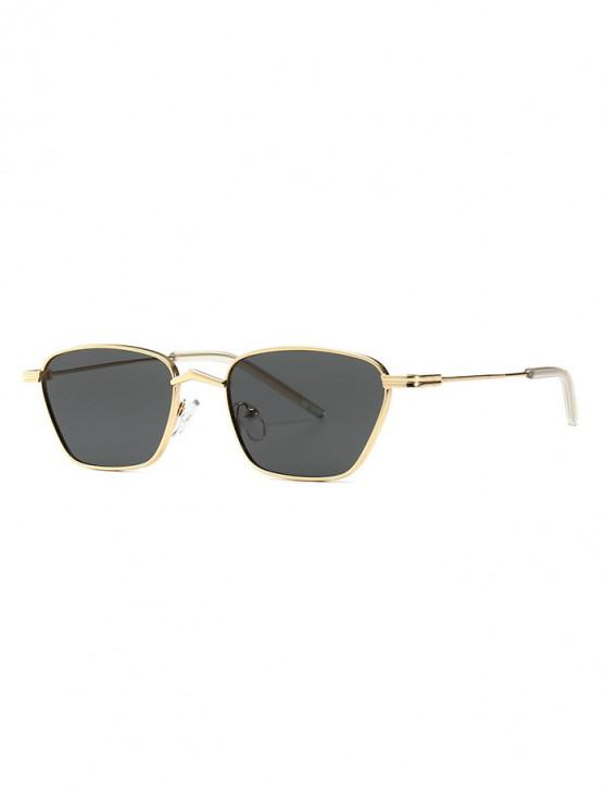 sale Narrow Retro Driving Metal Sunglasses - BLACK